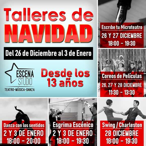 taller de navidad danza, esgrima, swing, microteatro