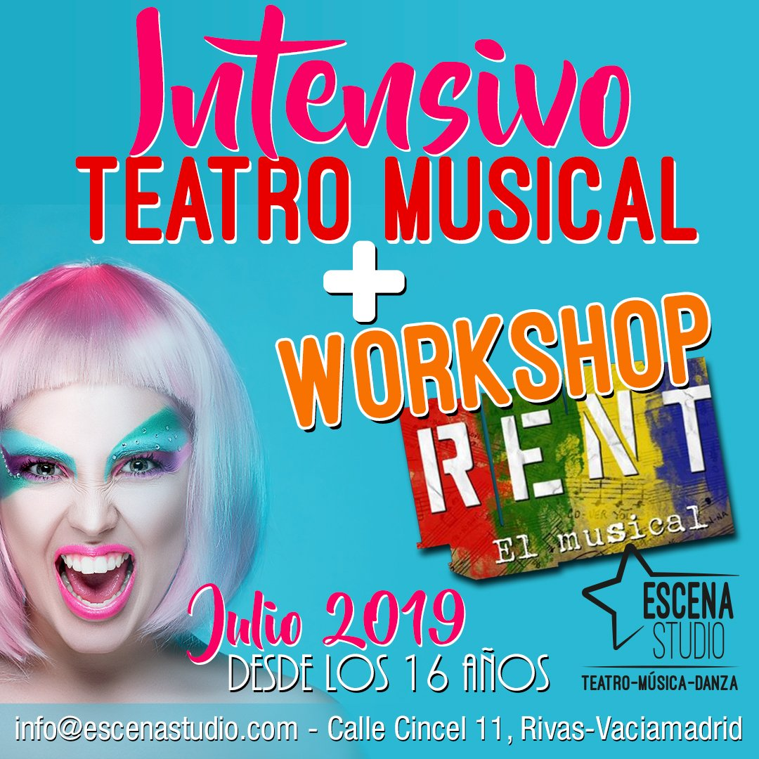 intensivo de teatro musical con Workshop de Rent